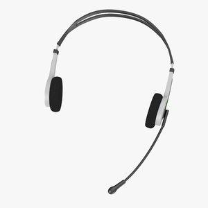 3d max headphones microphone