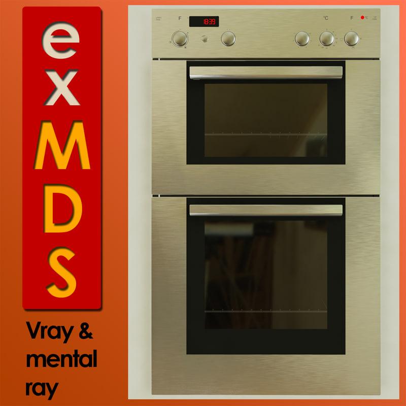3d double oven model