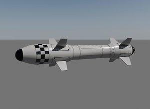 3d model missile