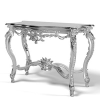 of interni MM 9402 baroque console table glamour silver classic carved carving