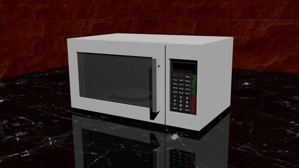 free microwave blender 3d model