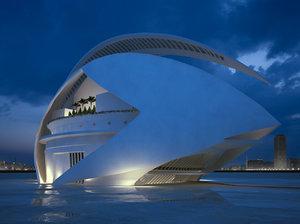 3ds max architectural calatrava s valencia