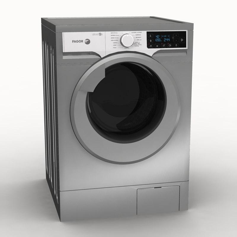 washing machine 3d obj