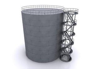 3d model petroleum tank