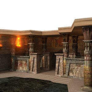 ancient egyptian temple 3d model
