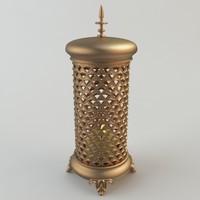 turkish light details 3d model