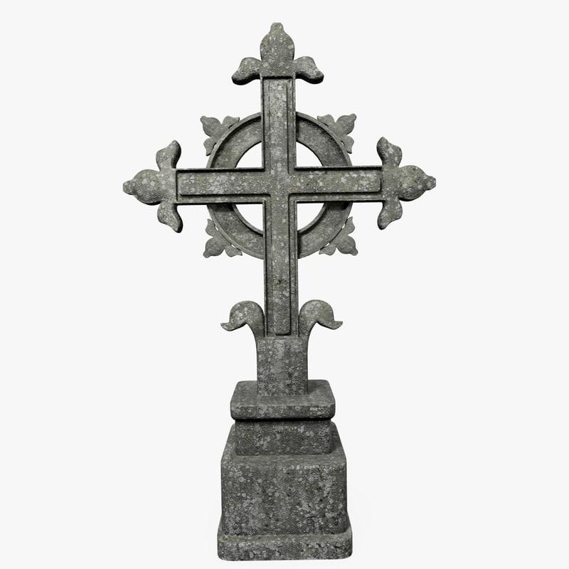 3d model concrete cross