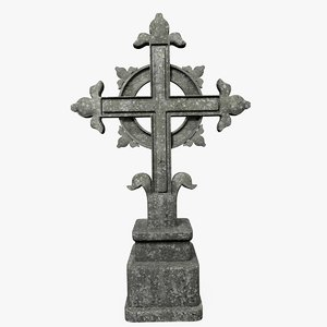 3d model concrete cross