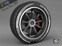 rim tire 1 3d model