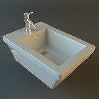 bidet toilet 3d model