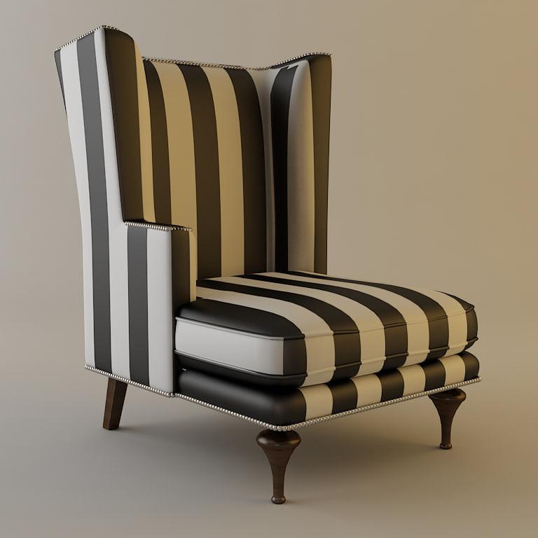 chair details armchair 3d 3ds