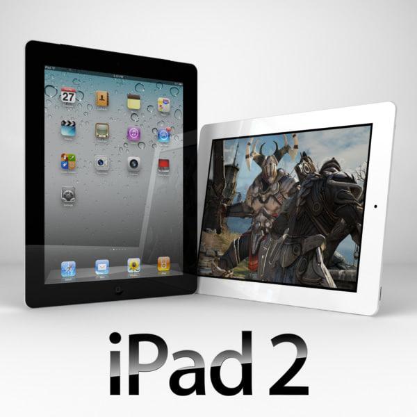 3d model apple ipad 2