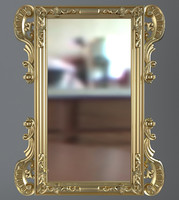 mirror wall gold 3d 3ds