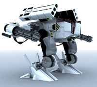 3d mech guns rocket