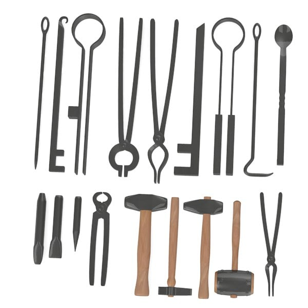 blacksmith tools obj