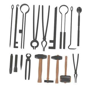 blacksmith tools obj