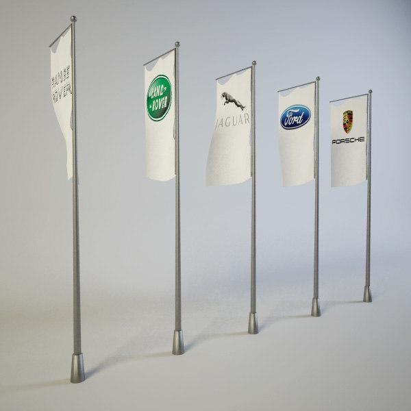 free flags 3d model