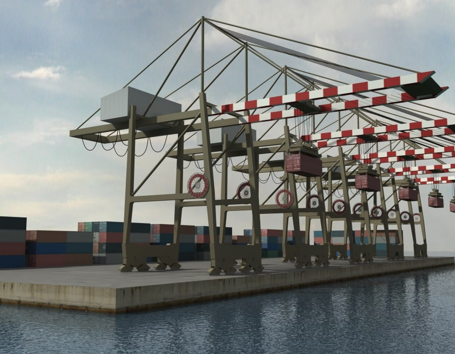 3d crane containers model