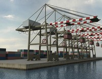 Port Crane and Containers