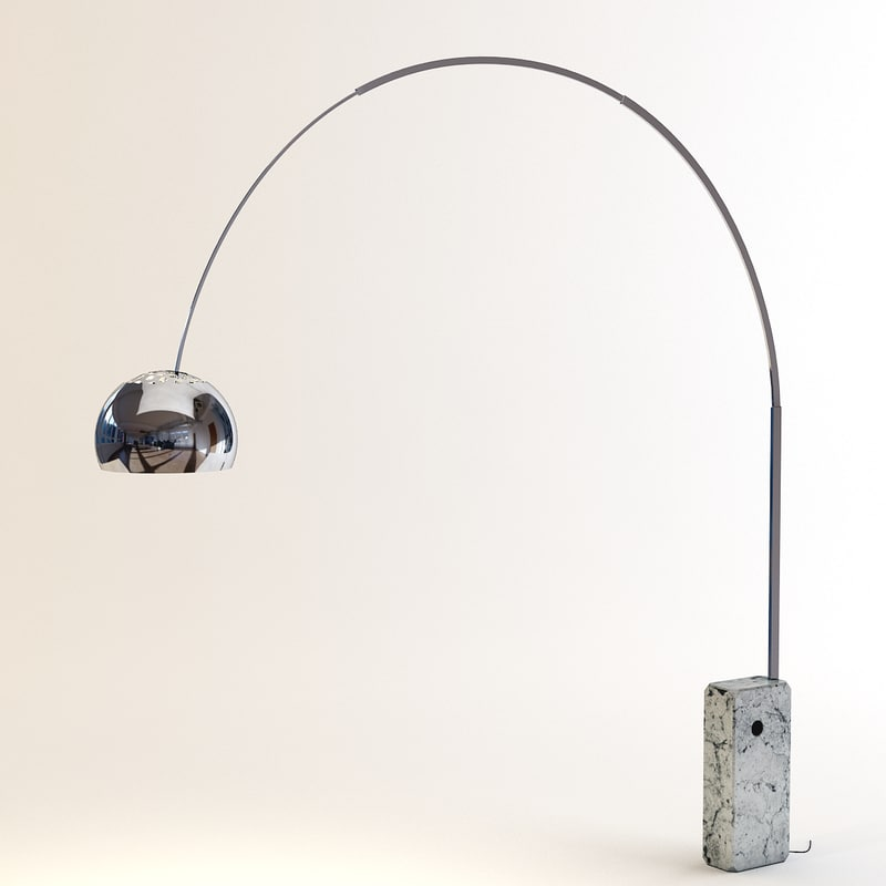floor lamp flos 3d max