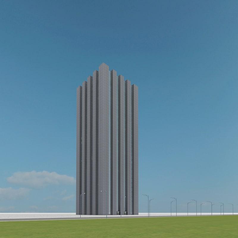 new skyscraper 74 3d model