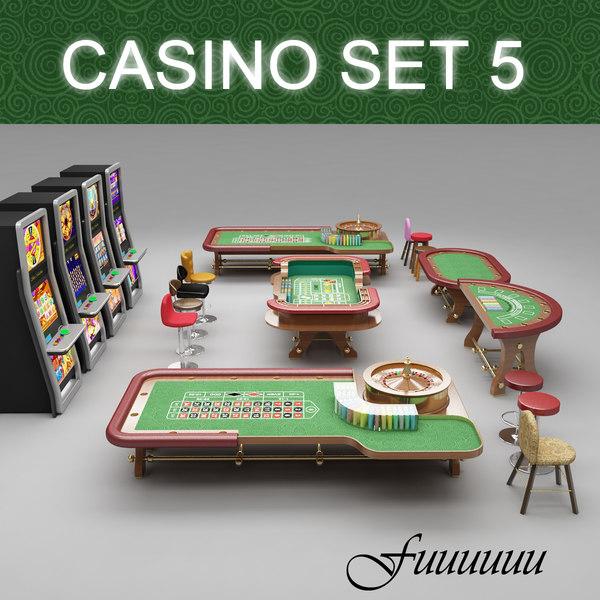 casino set 5 3d max