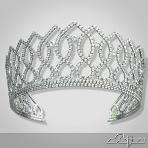 3d model crown princess