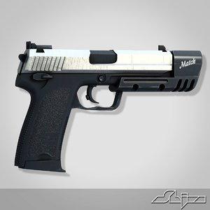 3d model gun usp45 match