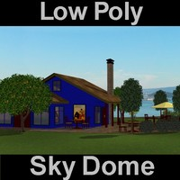 3d cafe sky dome