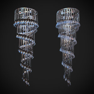 3d brendan chandelier forks model