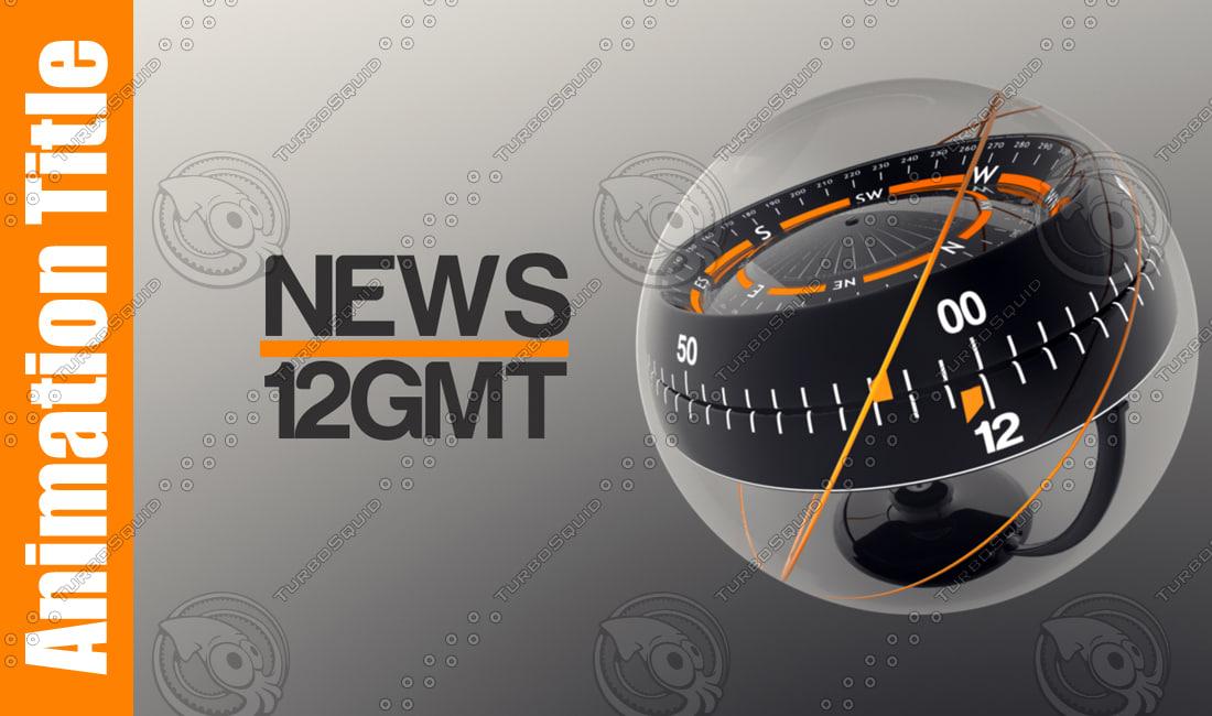 news clock 3d model