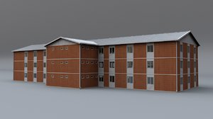 3d obj prefabricated building 1