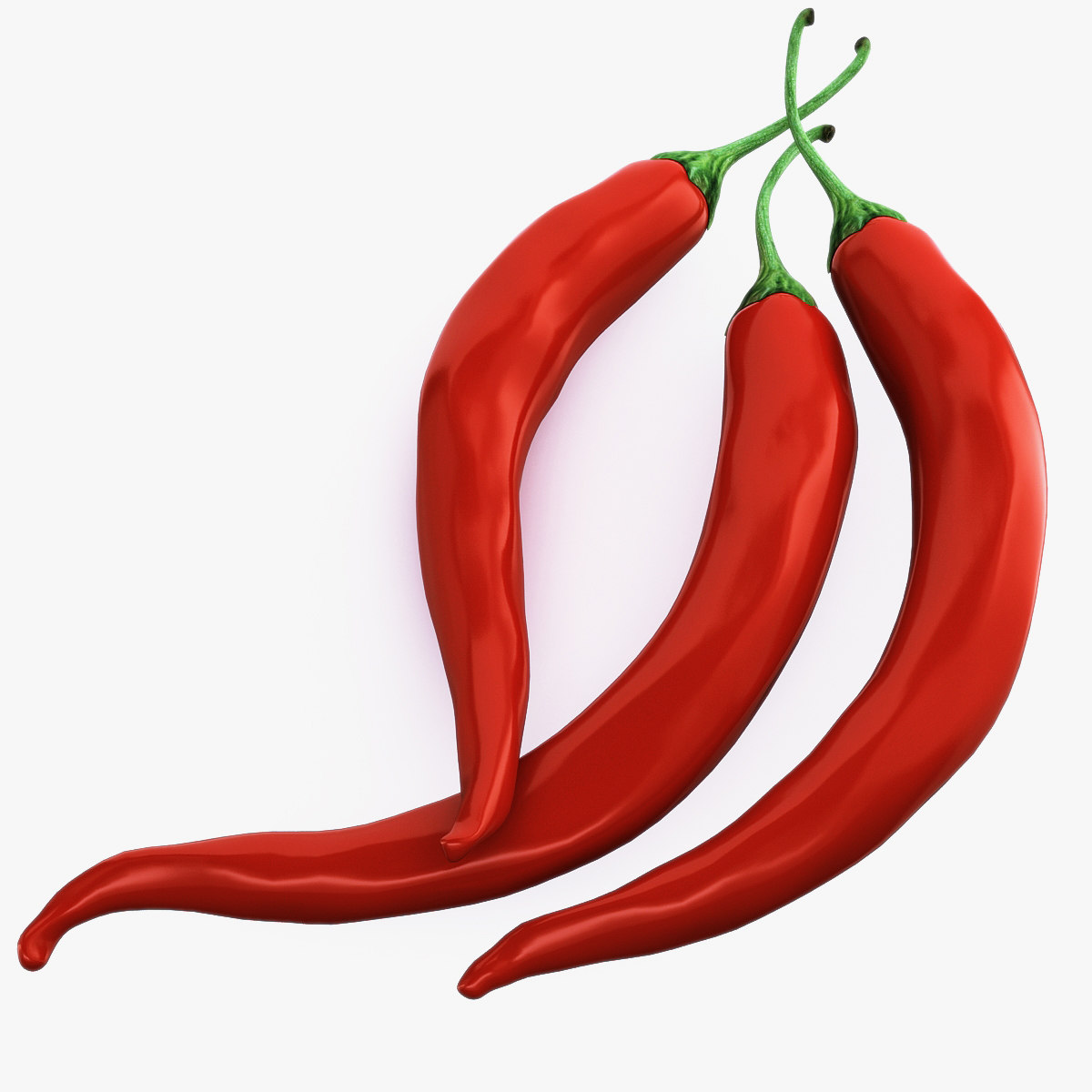 pepper chili 3d model