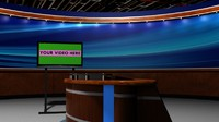 3d model virtual news set