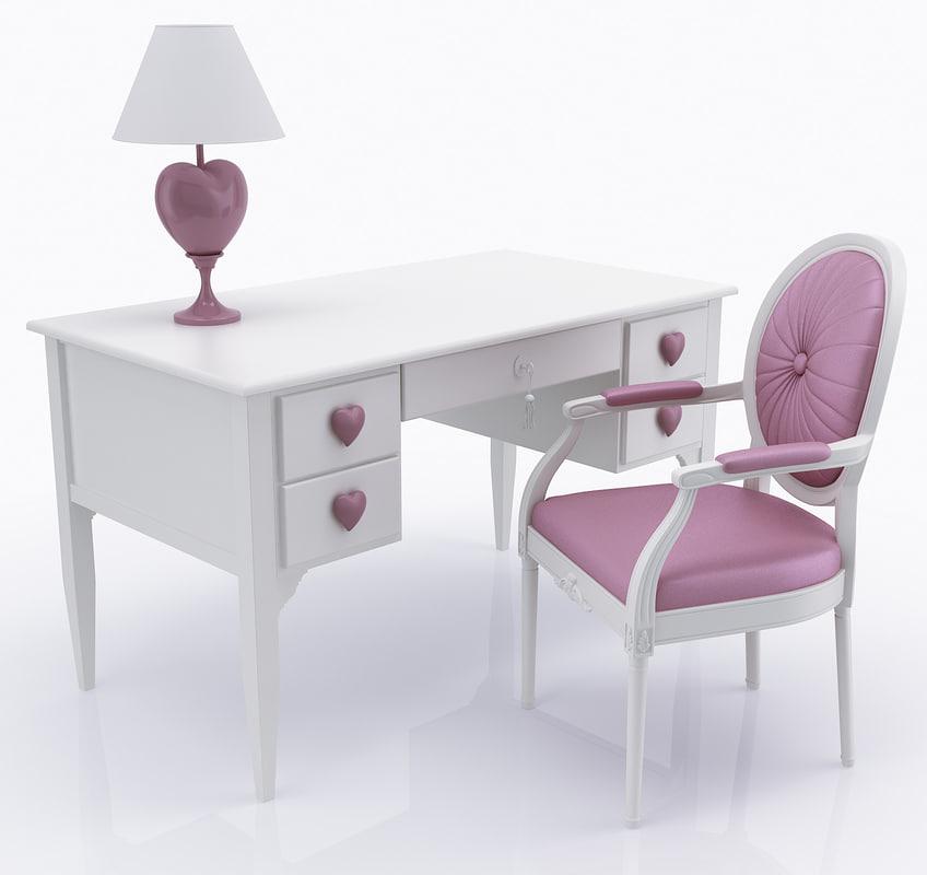 3d c4d children s desk chair