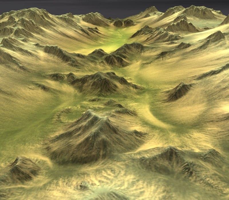 desert terrain c4d
