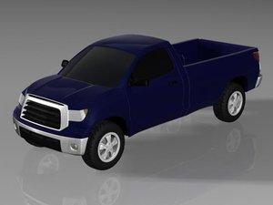 3d model of toyota tundra truck