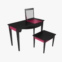 3d model vanity table dressing