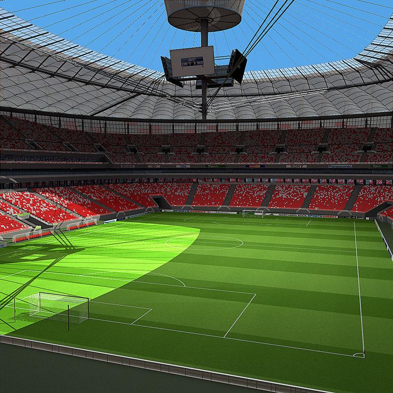 3d warsaw stadium poland model