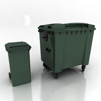 3d wheelie bins model