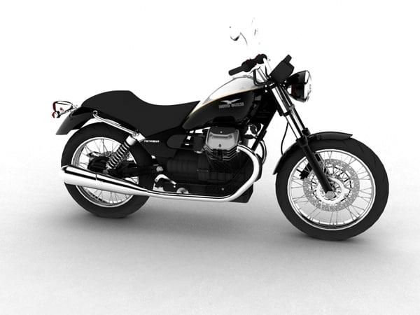moto guzzi nevada anniversario 3d model