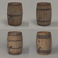 wooden barrels 3d model