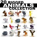 cartoon animals rig chicken 3ds