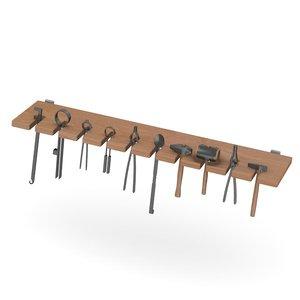 3d shelf smithy equipment