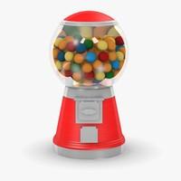3d model chewing gum machine