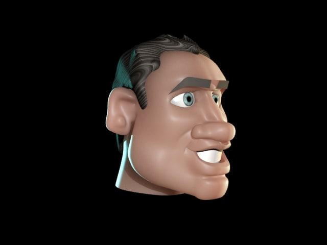 cartoon face 3d max