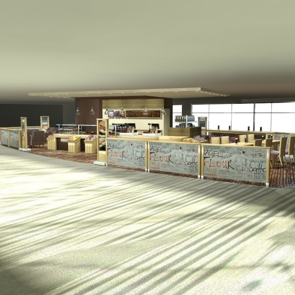 cafe coffee shop 3d max