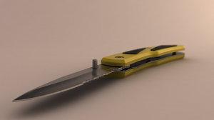 3d pocket knife model