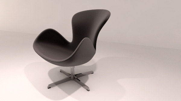 3ds max swan chair