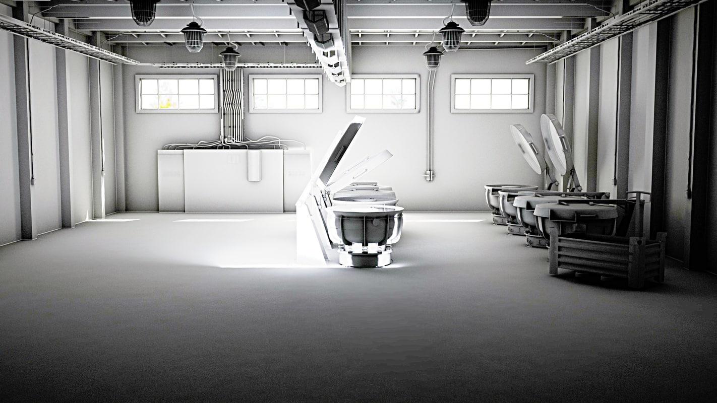 3d hall model